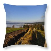 Plowed Field Throw Pillow by Aged Pixel