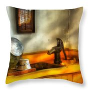 Plumber - The Wash Basin Throw Pillow by Mike Savad
