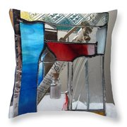 Poet windowsill Box - other view Throw Pillow by Karin Thue
