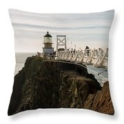 Point Bonita Lighthouse Throw Pillow by Georgia Fowler