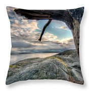 Point Me Towards Downtown Vancouver Throw Pillow by James Wheeler