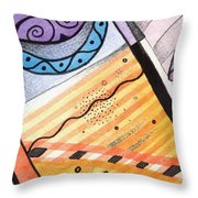 Points Lines And Circles Throw Pillow by Helena Tiainen