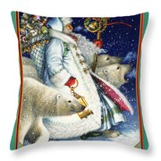 Polar Magic Throw Pillow by Lynn Bywaters