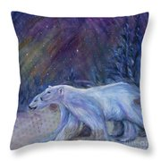 Polaris Throw Pillow by Angie Bray-Widner