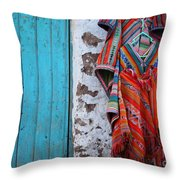 Ponchos For Sale Throw Pillow by James Brunker
