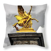Pont Alexander IIi Fragment In Paris Throw Pillow by Elena Elisseeva