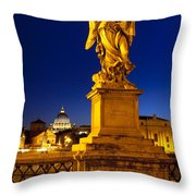 Ponte Sant Angelo Throw Pillow by Brian Jannsen