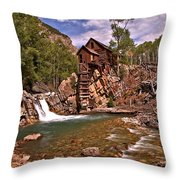 Pool Below The Mill Throw Pillow by Adam Jewell