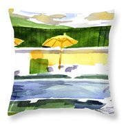 Poolside Throw Pillow by Kip DeVore
