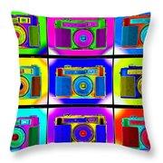 Pop Art Robin Proofs Throw Pillow by Mike McGlothlen