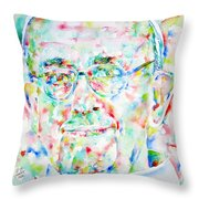 Pope Francis Watercolor Portrait Throw Pillow by Fabrizio Cassetta