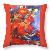 Poppies Gone Wild Throw Pillow by Sherry Harradence