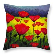 Poppy Corner IIi Throw Pillow by John  Nolan