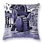 Porch Pickin Throw Pillow by Bartz Johnson