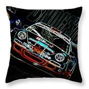 Porsche 911 Racing Throw Pillow by Sebastian Musial