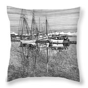 Port Orchard Reflections Throw Pillow by Jack Pumphrey