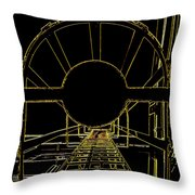 Portal Throw Pillow by Guy Pettingell