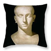 Portrait Bust Of Emperor Severus Alexander Throw Pillow by Anonymous