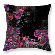 Portrait In Black - S01-02b Throw Pillow by Variance Collections