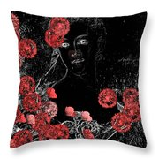 Portrait in Black - s0201b Throw Pillow by Variance Collections