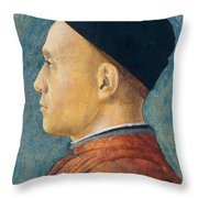 Portrait of a Man Throw Pillow by Andrea Mantegna