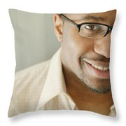 Portrait Of A Man Throw Pillow by Darren Greenwood