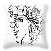 Portrait of a Man Throw Pillow by Michelle Calkins