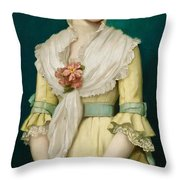 Portrait of a Young Girl Throw Pillow by George Chickering Munzig