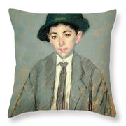 Portrait Of Charles Dikran Kelekian Throw Pillow by Mary Stevenson Cassatt