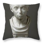 Portrait Of Emmanuel Kant  Throw Pillow by Friedrich Hagemann