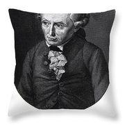 Portrait of Emmanuel Kant  Throw Pillow by German School