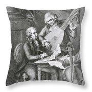 Portrait Of Franz Joseph Haydn Throw Pillow by John Francis Rigaud