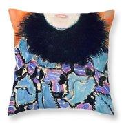 Portrait of Johanna Staude Throw Pillow by Gustav Klimt