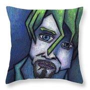 Portrait Of Kurt Throw Pillow by Kamil Swiatek