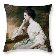 Portrait of Miss Anne Dutton Throw Pillow by Francis Cotes