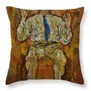Portrait Of Paris Von Gutersloh Throw Pillow by Egon Schiele
