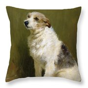 Portrait of Pilu Throw Pillow by John Charlton