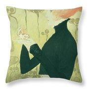 Portrait Of Sarah Bernhardt Throw Pillow by Manuel Orazi