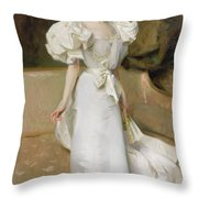 Portrait Of The Countess Of Clary Aldringen Throw Pillow by John Singer Sargent