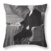 Portrait Of Thomas Jefferson Throw Pillow by Alonzo Chappel