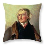 Portrait Of Thomas Jefferson Throw Pillow by Thomas Sully