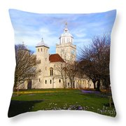 Portsmouth Cathedral At Springtime Throw Pillow by Terri Waters