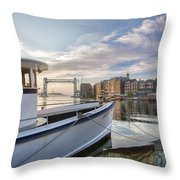 Portsmouth Harbor Sunrise Throw Pillow by Eric Gendron