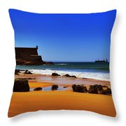 Portuguese Coast Throw Pillow by Marco Oliveira