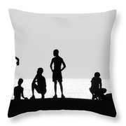 Posing Throw Pillow by Erik Brede