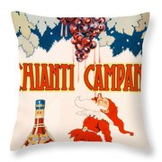 Poster Advertising Chianti Campani Throw Pillow by Necchi