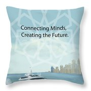 Poster Dubai Expo - 2 Throw Pillow by Corporate Art Task Force