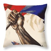 Poster For Liberation Of France From World War II 1944 Throw Pillow by Anonymous