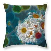 Pot Of Daisies 02 - S11bl01 Throw Pillow by Variance Collections
