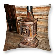 Potbelly Stove Throw Pillow by Marty Koch